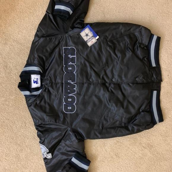 newest 29767 dd409 Vintage NEW Dallas Cowboys Starter Jacket XL NWT